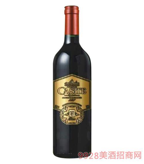 卡斯特西拉干红葡萄酒2010-13度750ml
