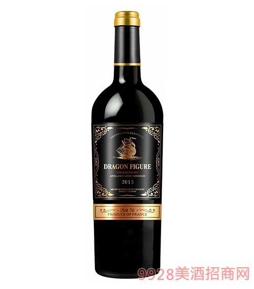 龙船图干红葡萄酒2013-13度750ml