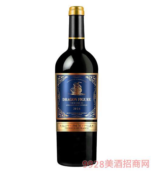 龙船图干红葡萄酒2014-13度750ml