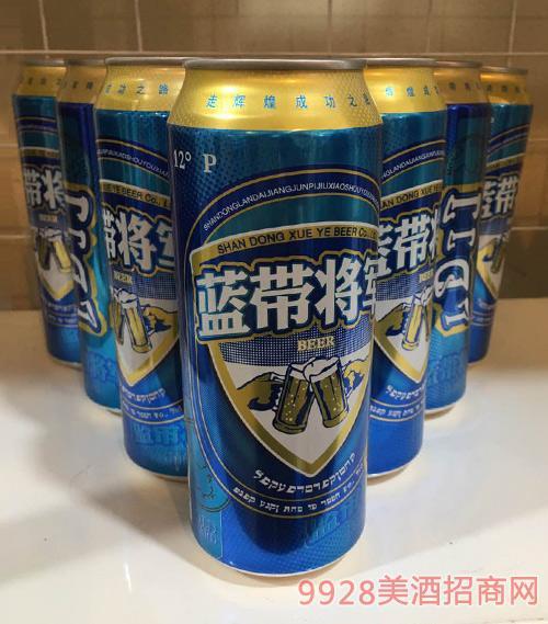 蓝带将军啤酒12°P500ml