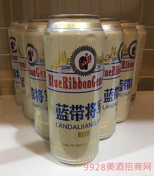 蓝带将军白啤罐装500ml
