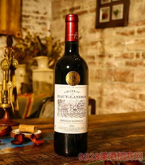 法国波尔多蓝灯堡红葡萄酒2014