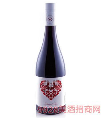 澳洲挚爱西拉干红葡萄酒2015