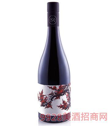 画家定制天下第 一春西拉干红葡萄酒2015