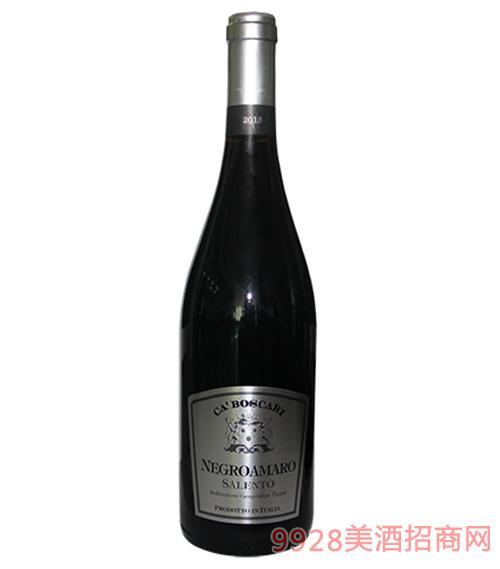 伯斯卡黑曼罗干红葡萄酒750ml