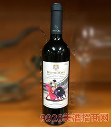 莫奈山斗牛士博巴尔干红葡萄酒750ml
