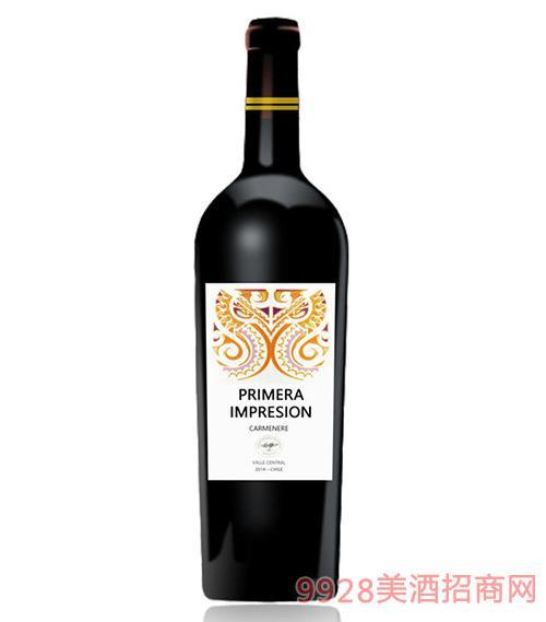 智利印象卡曼尼干红葡萄酒13.5度750Ml