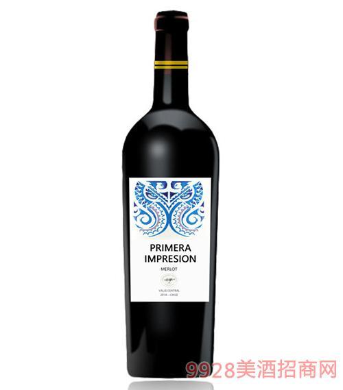 智利印象梅洛干红葡萄酒13.5度750Ml