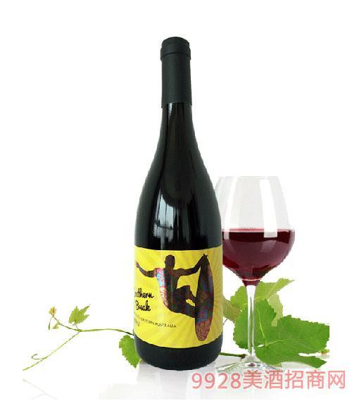 活力澳洲冲浪手西拉红葡萄酒