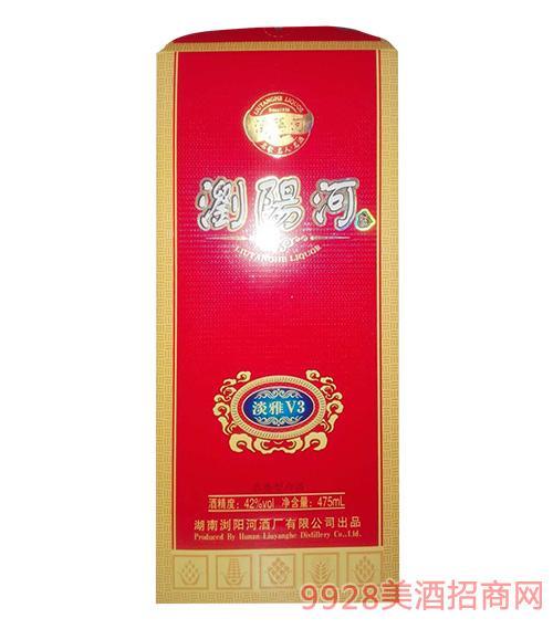 浏阳河酒淡雅V3-42度475ml