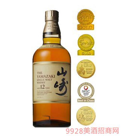 日本山崎单一麦芽威士忌酒12