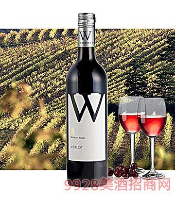 澳洲沃本梅洛红葡萄酒