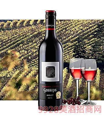 澳洲美人私语梅洛红葡萄酒