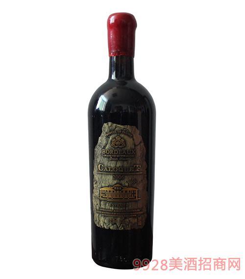 科乐克伯爵金CA06干红葡萄酒