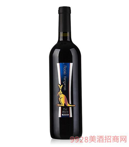 澳大利袋鼠梅洛干红葡萄酒