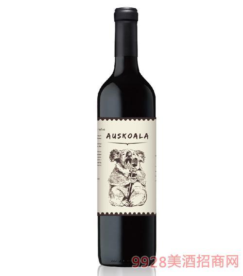 澳斯卡拉爵士乐西拉干红葡萄酒14度750ml