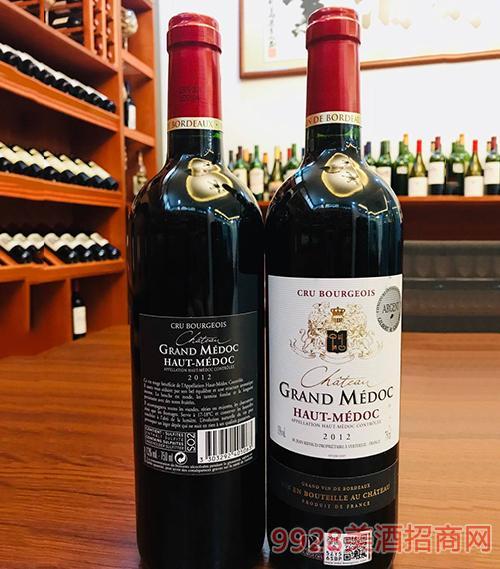 大美度干红葡萄酒13度750ml