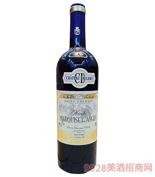 法国朗格多克(圣西岩)干红葡萄酒13.5度750ml