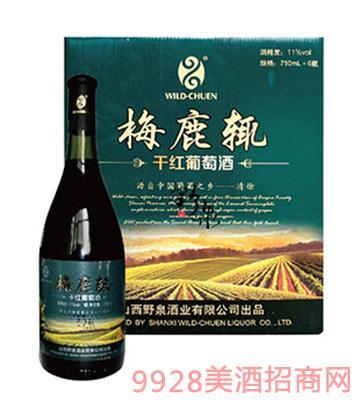 野泉梅鹿辄干红葡萄酒11度750ml