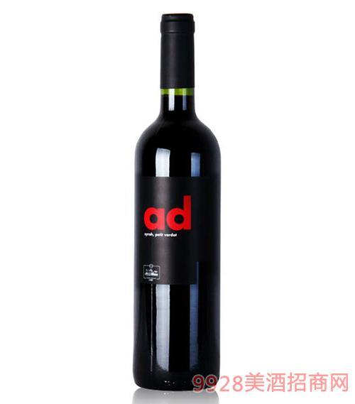 爱德红葡萄酒14.5度750ml