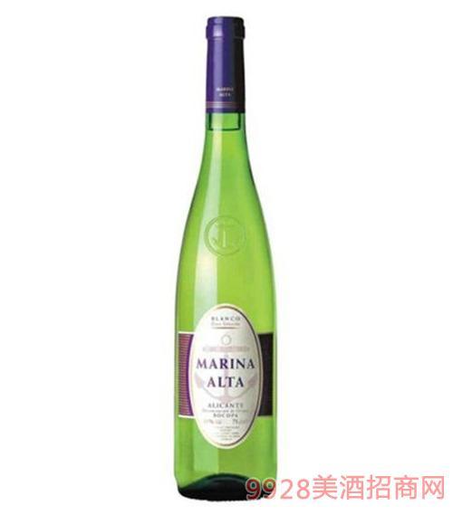 玛丽娜阿尔塔白葡萄酒11度750ml