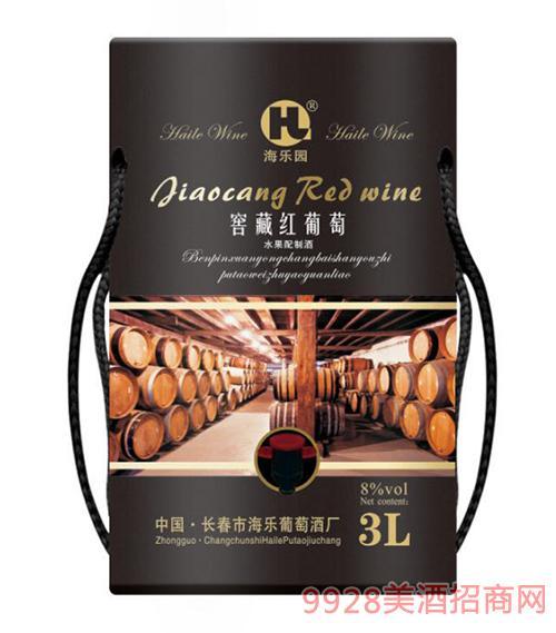 窖藏红葡萄酒8度3L