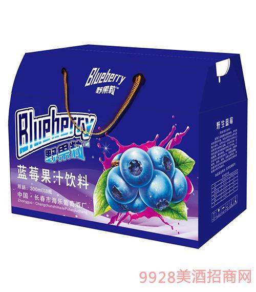 蓝莓果汁饮料300mlx8瓶
