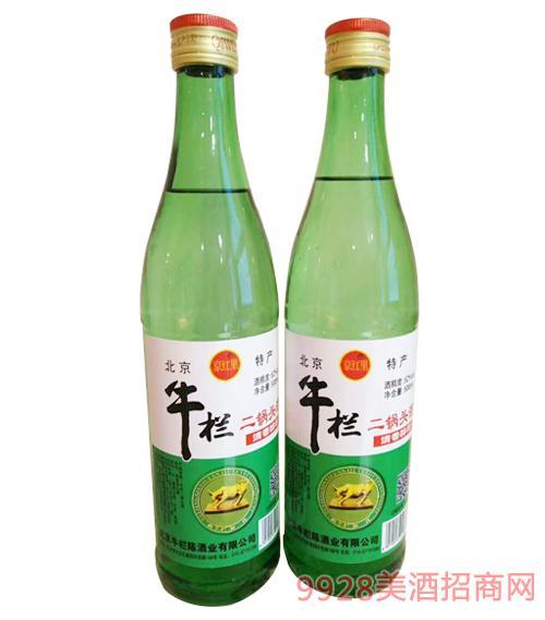 京红里牛栏二锅头酒52度500ml-清香型