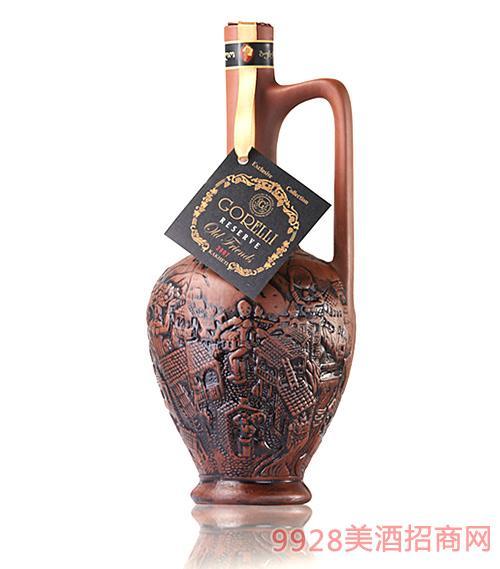 格鲁吉亚老朋友干红葡萄酒(珍藏版)陶罐装