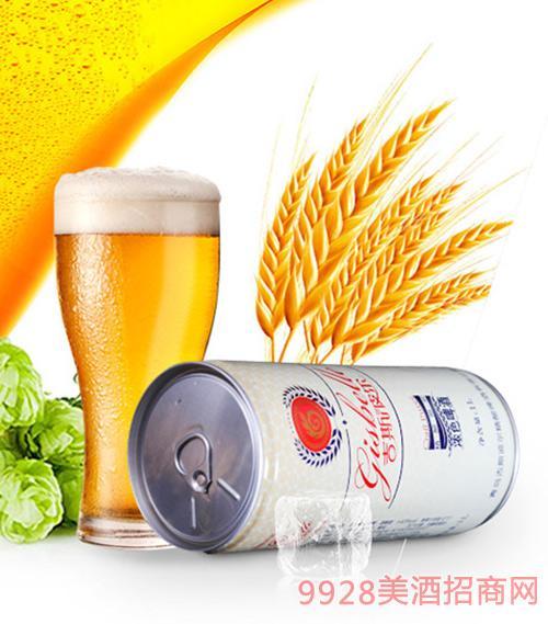 吉斯波尔精酿黄啤1L装易拉罐