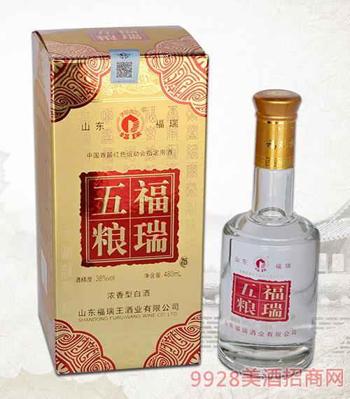 红五粮福瑞酒38度480ml