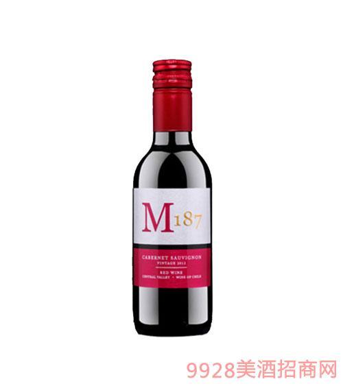 智利M187特级珍藏赤霞珠红葡萄酒