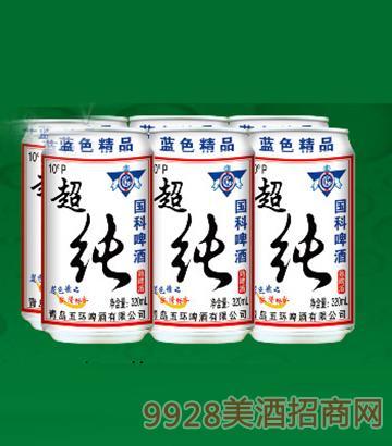 国科超纯啤酒320ML6塑包(易拉罐装)