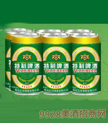国科特制啤酒320ML6塑包(易拉罐装)