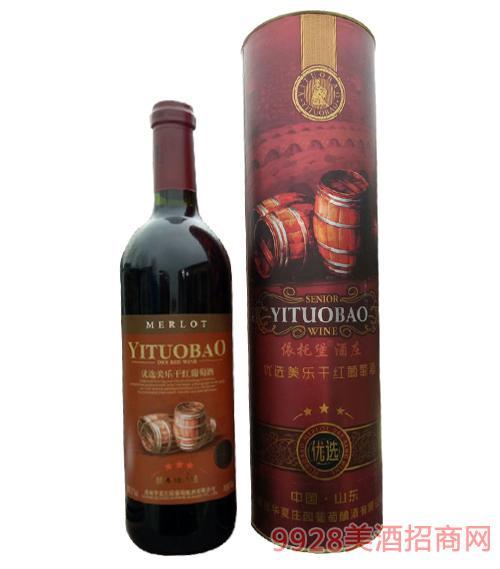 优选美乐干红葡萄酒750ml