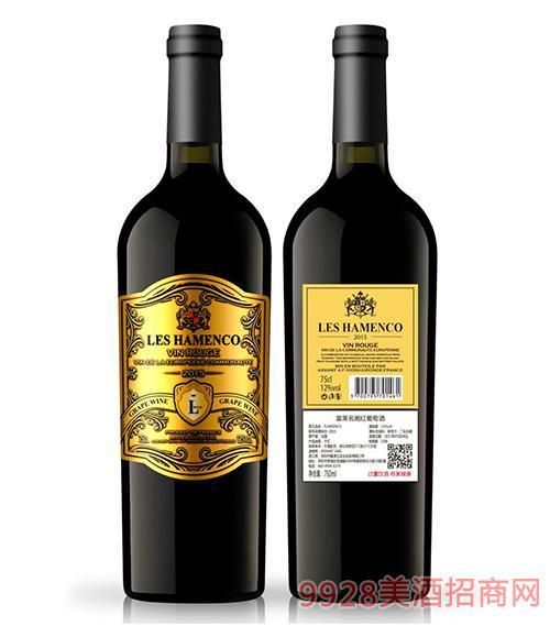 法国富莱名阁干红葡萄酒12度750ml