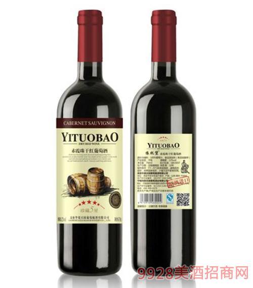 赤霞珠干红葡萄酒珍藏5星750ml