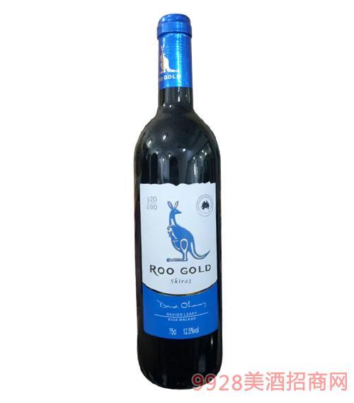 澳亚黄金袋鼠干红葡萄酒12.5度750ml