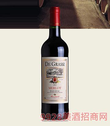 黛格酒庄梅洛红葡萄酒