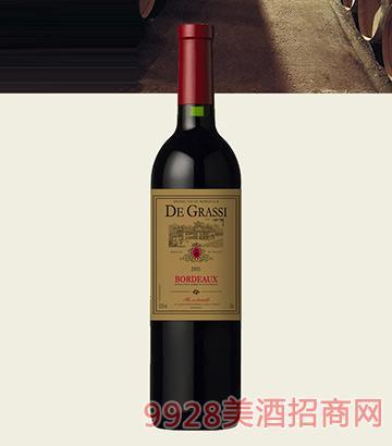 黛格酒庄波尔多红葡萄酒