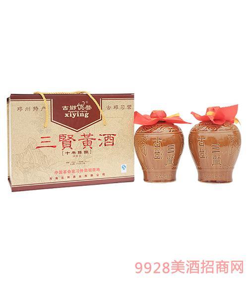 古邓三贤黄酒十年陈12度1500ml
