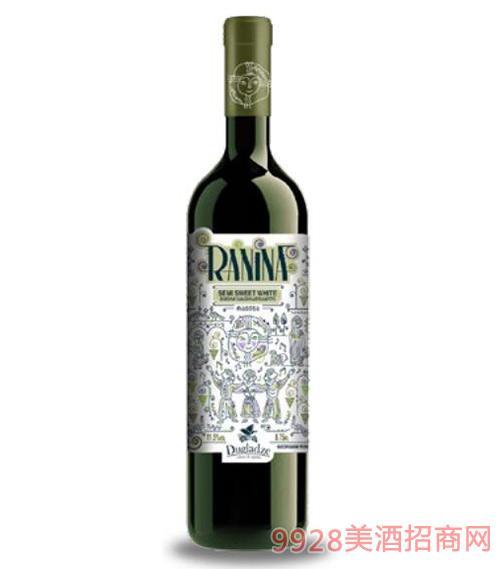 拉尼娜半甜白葡萄酒