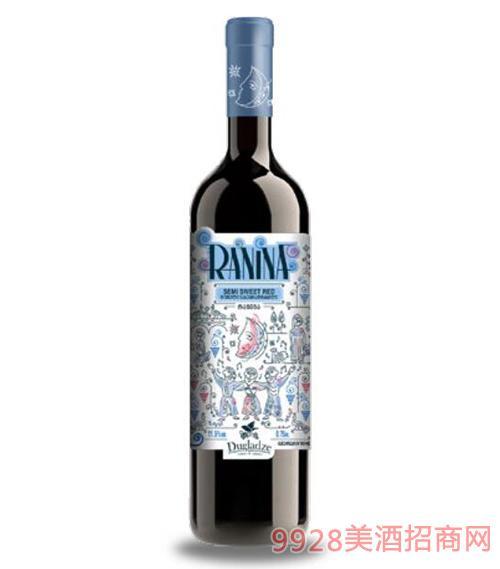 拉尼娜半甜红葡萄酒