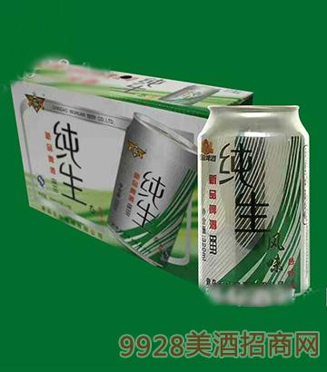酒脉纯生风味啤酒320mlx24(易拉罐装)