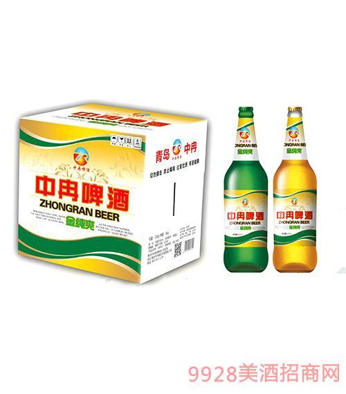 中冉啤酒金纯爽500ml