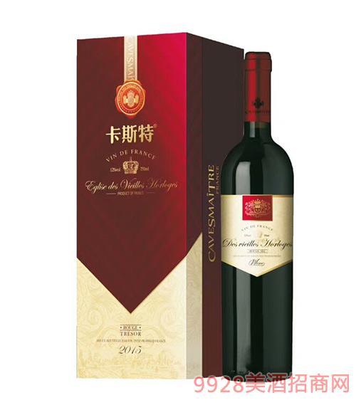 法国卡斯特戴维斯珍品干红葡萄酒12度750ml