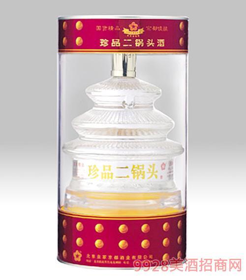 京都珍品二锅头酒天坛透明圆桶56度