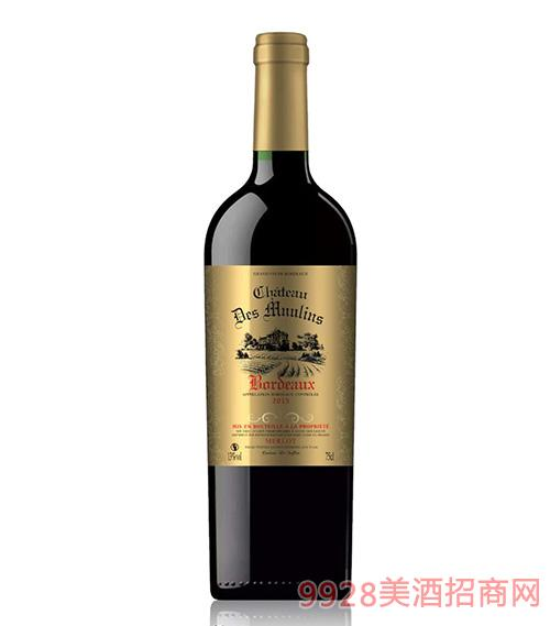 莫蘭堡波尔多红葡萄酒750ml