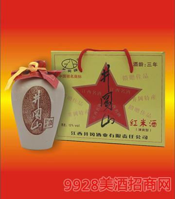12度井冈山三年陈红米酒460mlx4