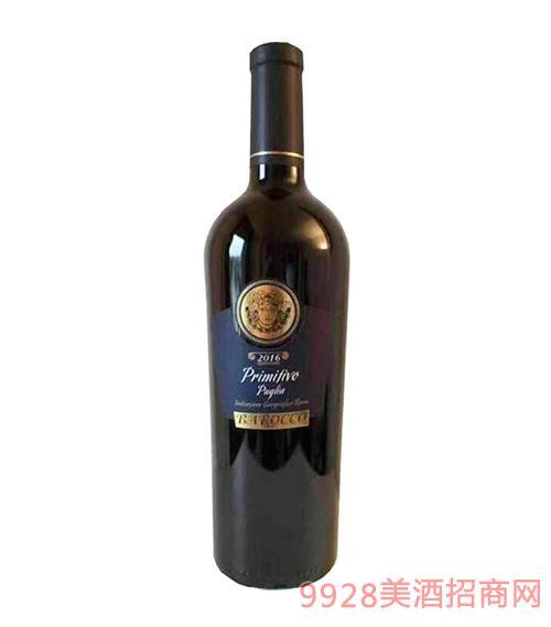 意大利坎帕诺拉酒庄普利米蒂沃IGT干红葡萄酒